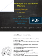 Western Philosophy of Education