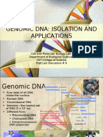 Genomic DNA Isolation and Applications