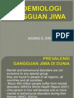 EPIDEMIOLOGI GANGGUAN JIWA