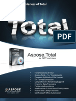 Aspose.Total Brochure