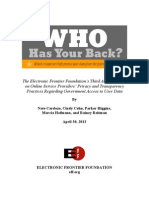 Who Has Your Back 2013 Report