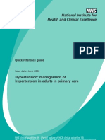NICE- Management of Hypertension in Adults in Primary Care 2006