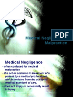 Medical Negligence and Malpractice