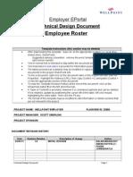 Employee Roster Central TDD V1..1.0