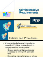 HIPAA Administrative Requiremnets