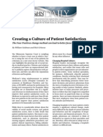 Creating a Culture of Patient Satisfaction