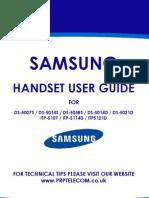 Samsung Handset User Guide