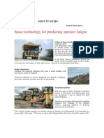 Space Technology for Predicting Operator Fatigue