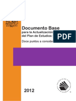 Documento Base Para Actualizar Plan de Estudios Cch