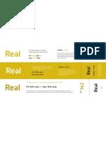 Reel ticket ideas