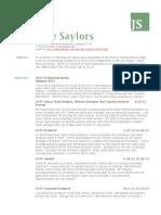 jade saylors journalism resume