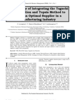 A Case Study of Integrating the Taguchi Loss Function and Topsis Method to Select an Optimal Supplier in a Manufacturing Industry