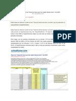 Tabla Resumen de Las Tasas de Usura Que Han Regido Desde Enero 1 de 2000