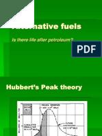 Alternative energy  Fuels