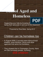School Aged and Homeless