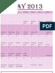 Girls 7 Day Planner May 2013