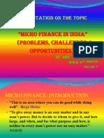 Amitkrshukla 4th Semester MICRO FINANCE Presentation