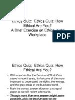Ethics Quiz