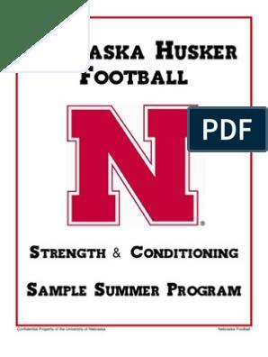 Nebraska - Strength Summer Conditioning   Self Care