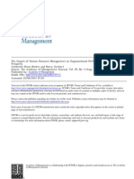 The Impact of Human Resource Management on Organizational Performance