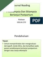 Preeklampsia & Eklampsia Berlanjut Post Partum