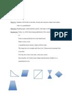 Math Lesson on Quadrilaterals