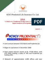 Group 1- ICICI Prulife