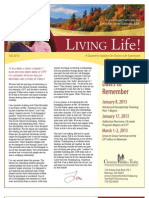 Living Life Newsletter Fall 2012