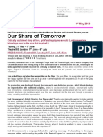 Our Share of Tomorrow Press Release 2013