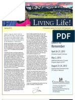 Living Life Newsletter Spring 2013
