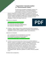 Act 1 Revisión de presaberes - Algebra, Trigonometría Y Geometría Analítica.docx