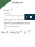 Senators Graham, Ayotte and McCain Letter to President Obama on Benghazi Survivors