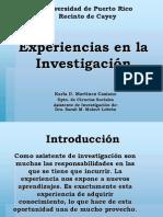 Experiencias en Investigacion