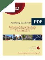 DataQuick's Market Analysis Best Practices Paper