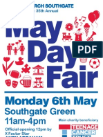 May Day Fair - Monday 6th May - 11am until 4pm - Southgate Green, London N14 7EG