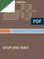 Stop & Wait Flow Control