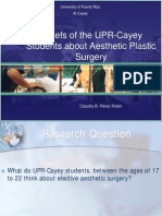 Beliefs of the UPR-Cayey Students about Aesthetic Plastic Surgery