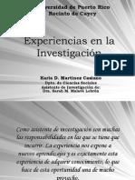 Experiencias en la investigación