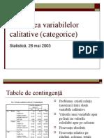 Asocierea variabilelor calitative