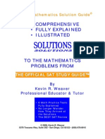 Sample the Sat Mathematics Solution Guide Web