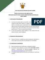 INSTITUTO DE TEOLOGIA DA DIOCESE DE SANTO ANDRÉ