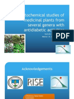 Phytochemical studies of medicinal plants from several genera with antidiabetic activities