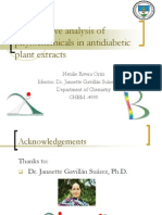Quantitative analysis of phytochemicals in antidiabetic plant extracts