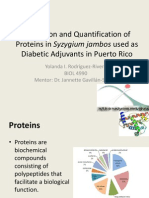 Extraction and Quantification of Proteins in Syzygium jambos used as Diabetic Adjuvants in Puerto Rico