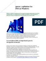 Como Configurar y Optimizar Los Servidores DNS en Windows