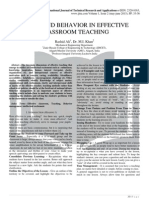 SKILLS AND BEHAVIOR IN EFFECTIVE