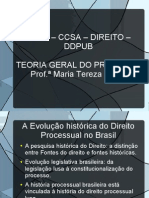 Evolução histórica do direito processual brasileiro