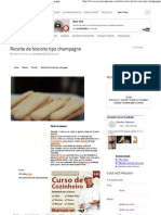 Receitas Supreme – Receita de biscoito tipo champagne