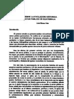 Evolucion Historica Del Sector Publico
