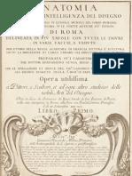 Anatomia Per Uso Et Intelligenza Del Disegno, 1691